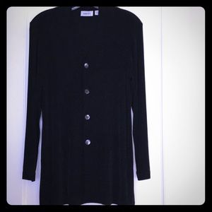 NEW ITEM Chico's black travelers 4-button jacket